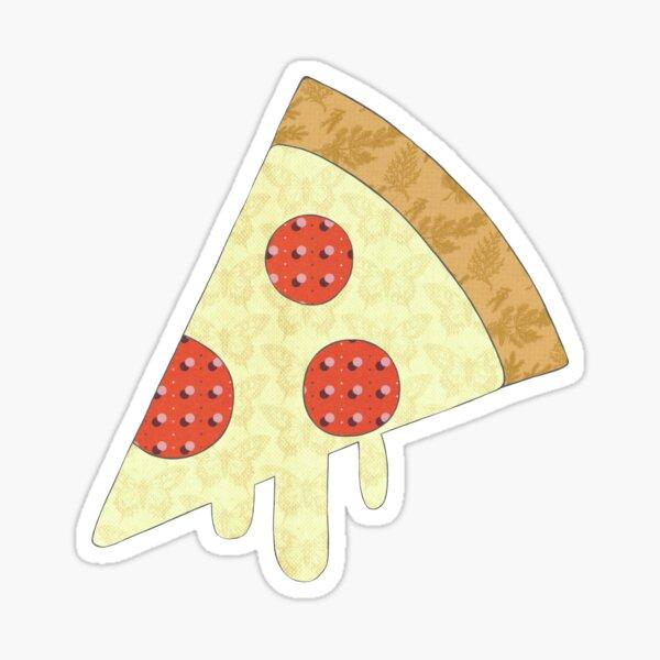 Pizza Mixed Media Sticker Sticker