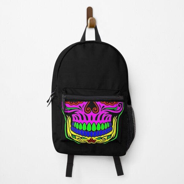 Sugar skull with neon masks Backpack
