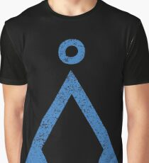 Earth symbol on black background Graphic T-Shirt