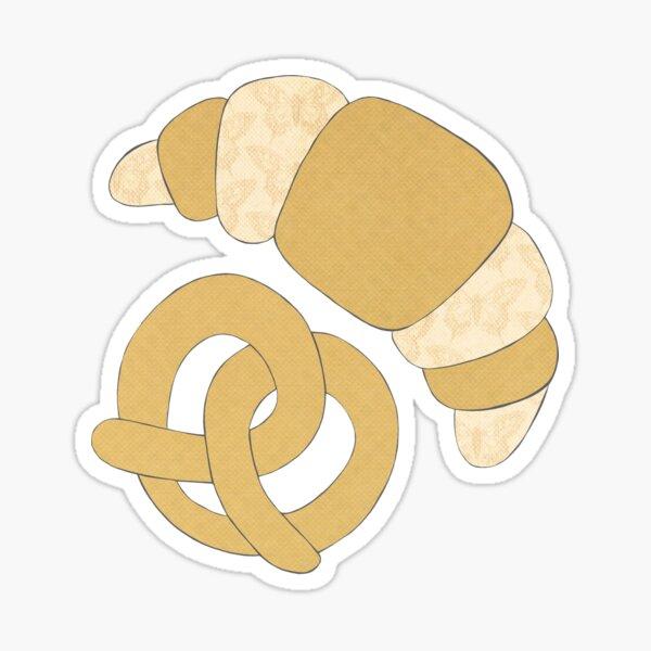 Pastry Mixed Media Sticker Sticker