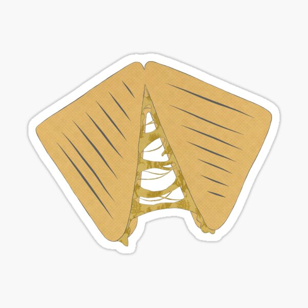 Grilled Cheese Mixed Media Sticker Sticker