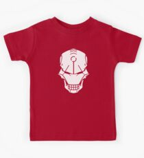 Cyborg Skull in White Kids Clothes