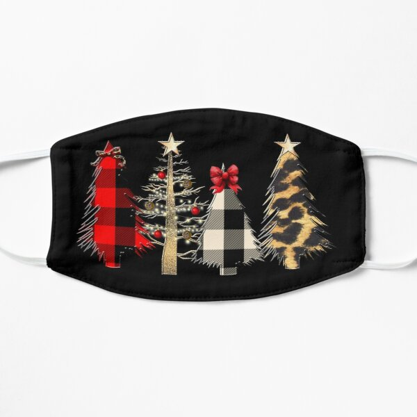 Red Plaid Christmas Tree Face Mask Mask