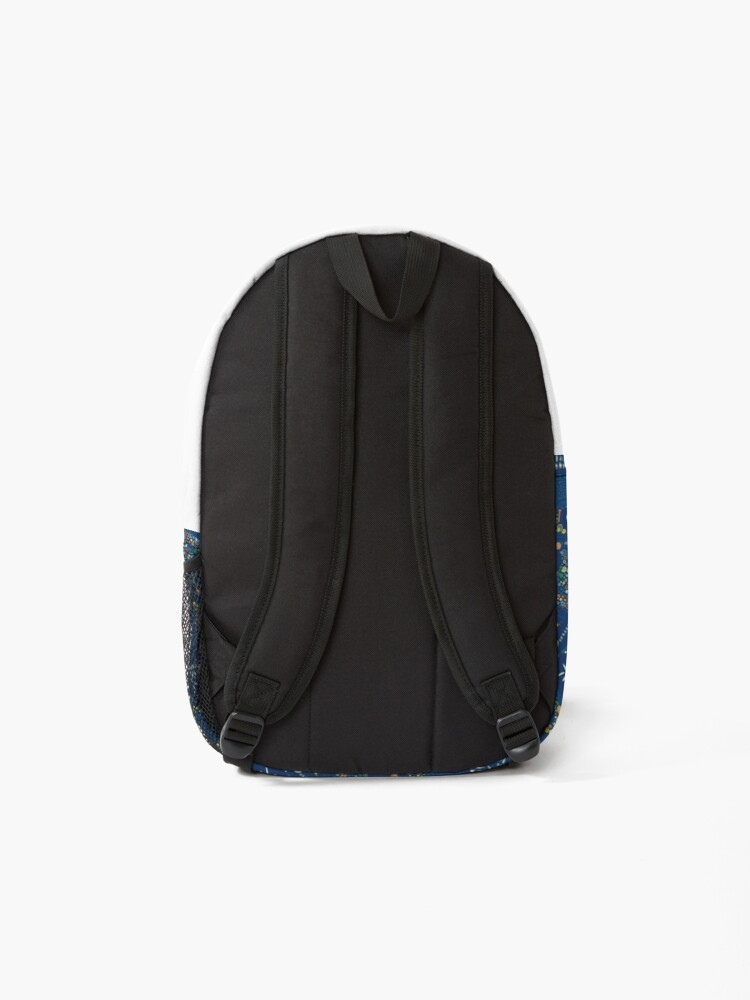 Alternate view of Dinosaur Fossils - Blue - Fun graphic pattern by Cecca Designs Backpack