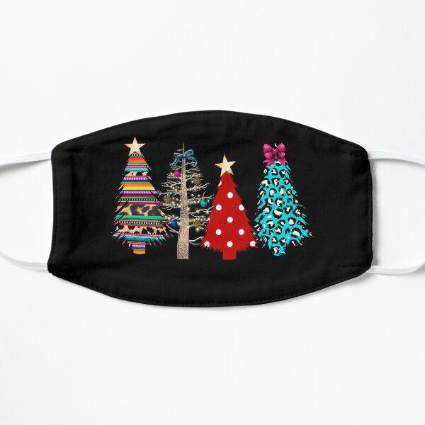Plaid Christmas Tree Face Mask Flat Mask
