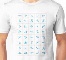 Table of chevrons white background Unisex T-Shirt