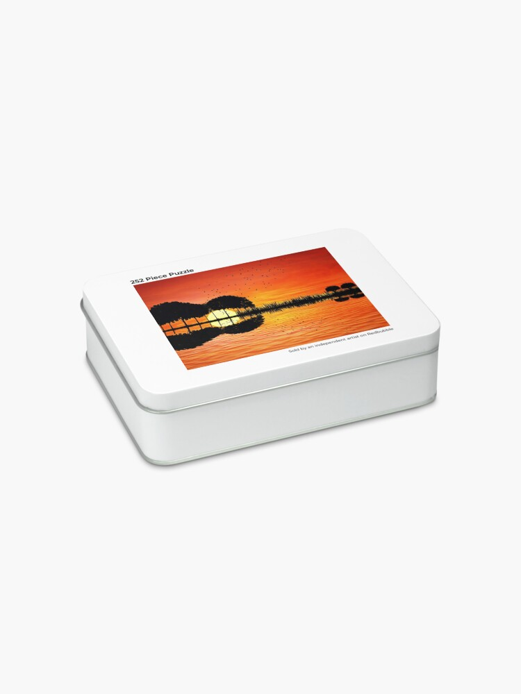 Alternate view of guitar island sunset Jigsaw Puzzle