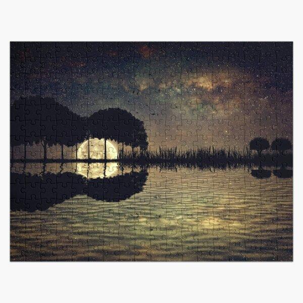 guitar island moonlight Jigsaw Puzzle