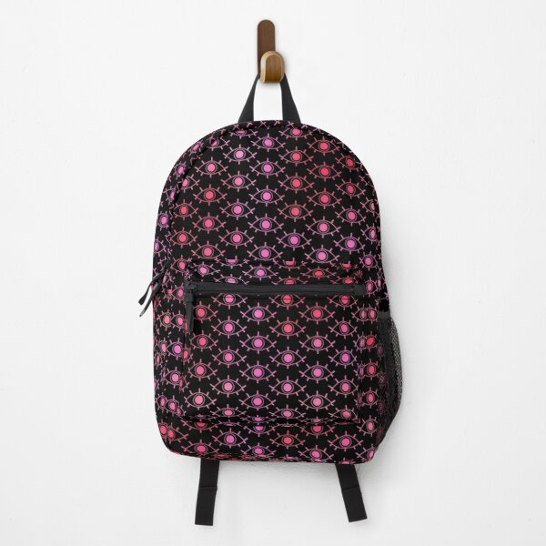Eye See You - Black & Pink Backpack