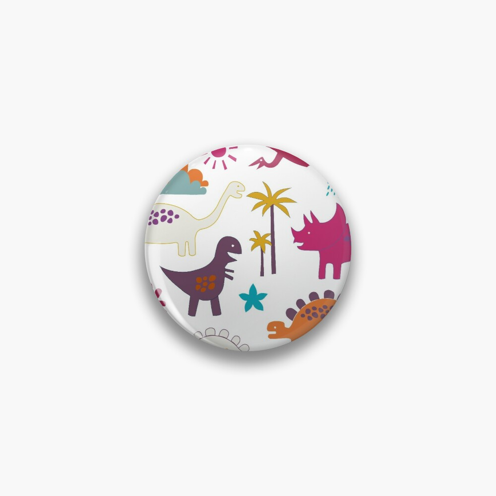 Dinosaur Land - Sunshine Brights - cute Dino pattern by Cecca Designs Pin