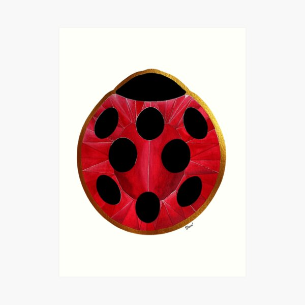 Ladybug gem Art Print