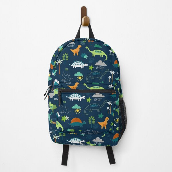 Dinosaur Land - cute Dino pattern by Cecca Designs Backpack