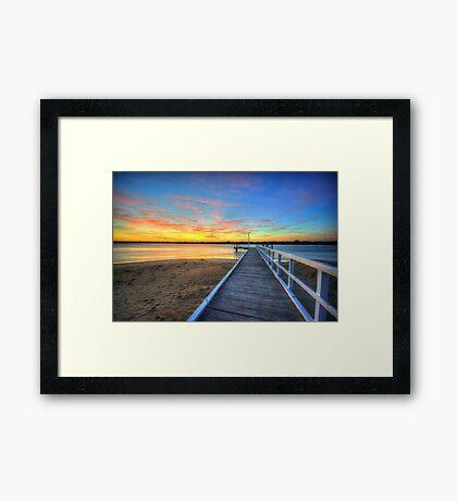 Barwon Heads Pier Sunrise Framed Print