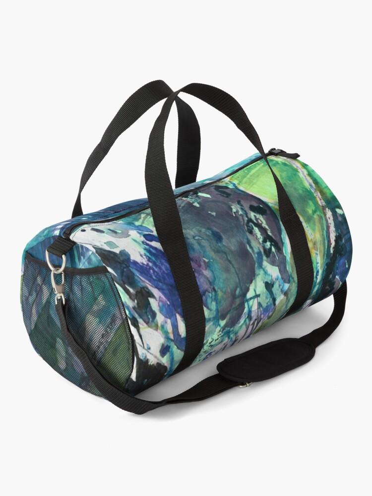 Alternate view of Blue/Green landscape - Original Abstract Watercolour by Francesca Whetnall Duffle Bag