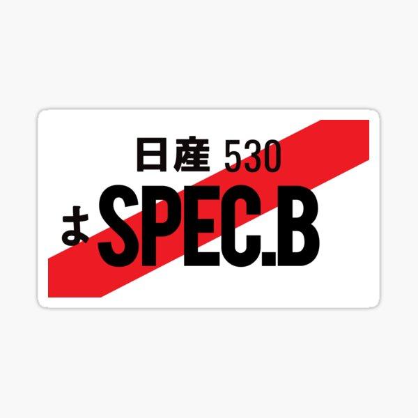 SPEC.B JDM NUMBER PLATE Sticker