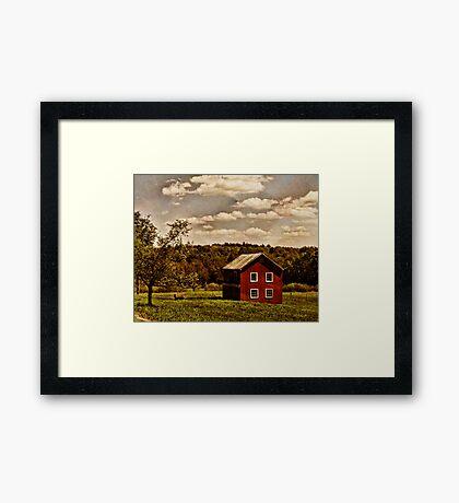 Long Ago at the Farm Framed Print