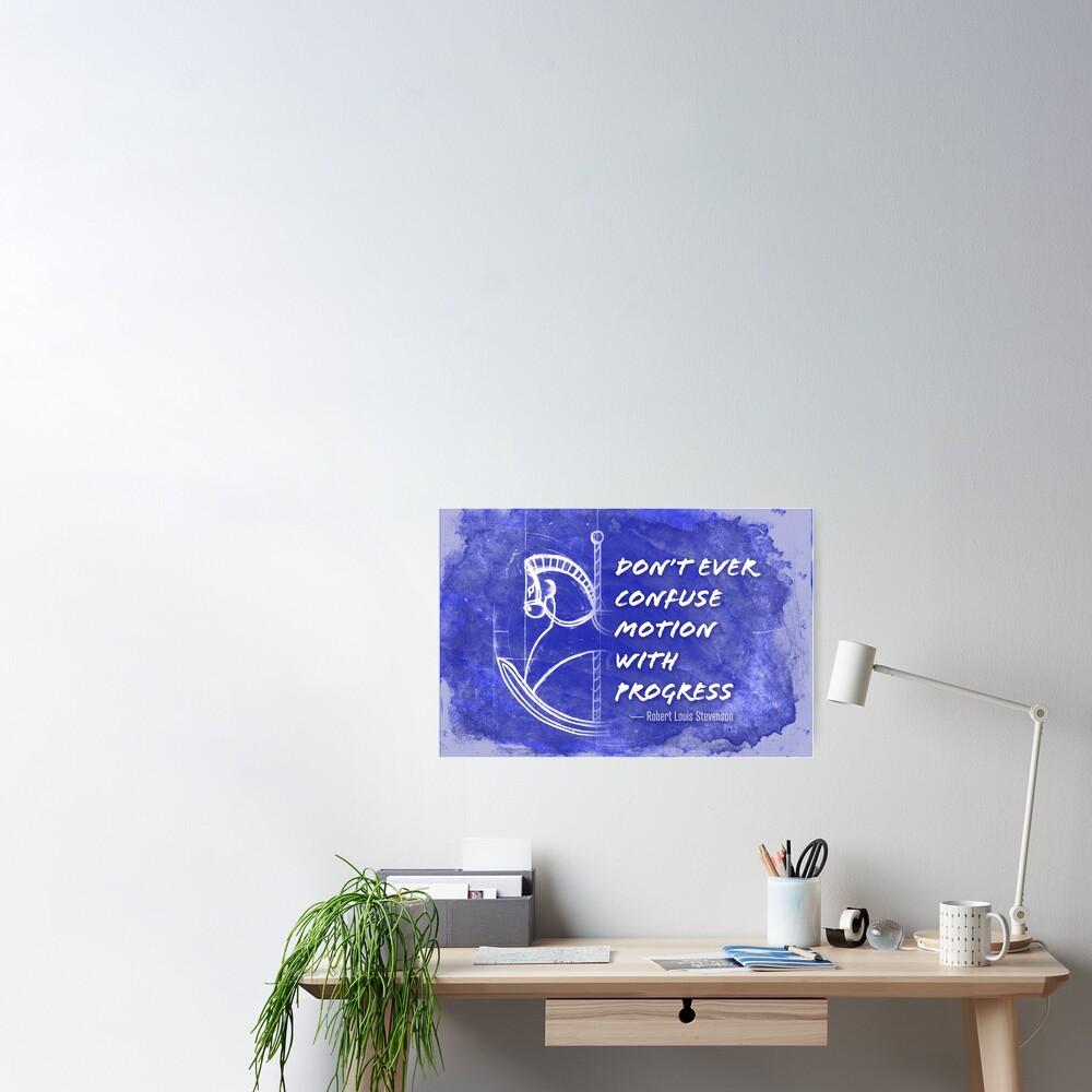 Motion vs Progress Poster