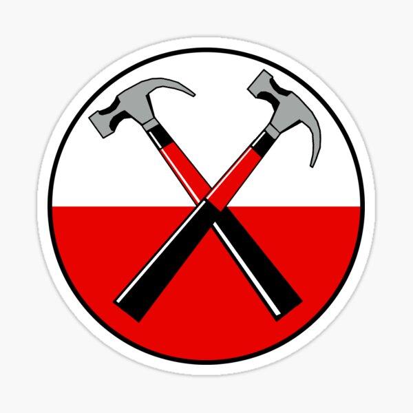 Pink Floyd TRUST US The Wall Album, Vintage hammers design  Sticker