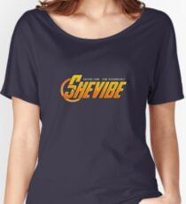 SheVibe Avengers Logo Women's Relaxed Fit T-Shirt