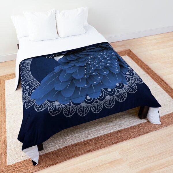 Decorative Australian Cockatoo in Blue Comforter