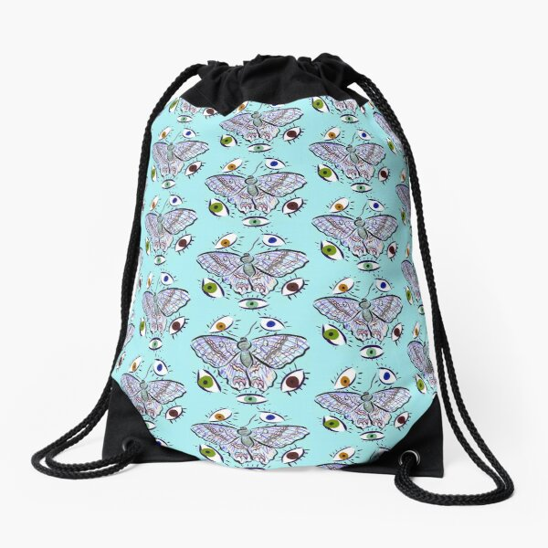 BUTTERFL-EYE DECAL *80% OF ARTIST MARGIN GOES TO COVID-19 NAVAJO RELIEF FUND* Drawstring Bag