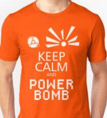 Keep Calm and Power Bomb - Dark Colours Unisex T-Shirt