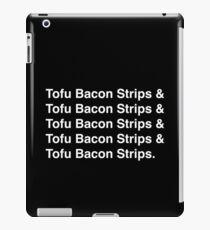 Tofu Bacon Strips (white) iPad Case/Skin