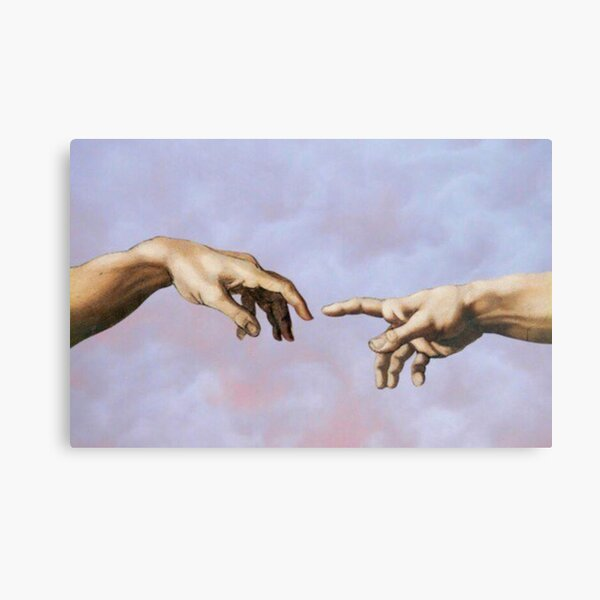 creation of adam canvas print by yousra2020 redbubble