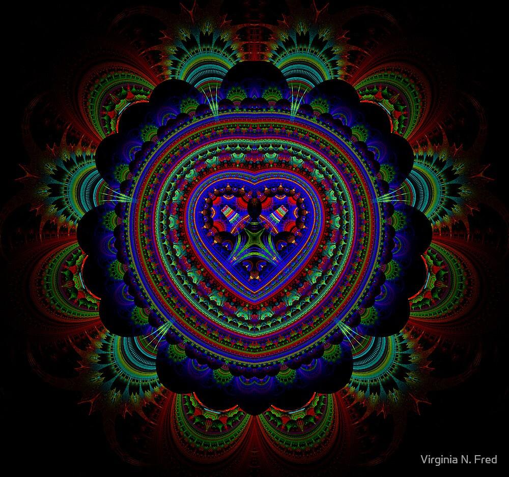 Peacock by Virginia N. Fred