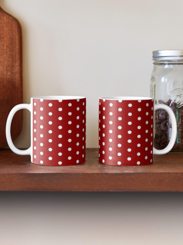 Alternate view of Red White Polka Dot Pattern Mug