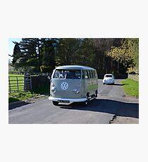 Split Screen Camper Van Photographic Print