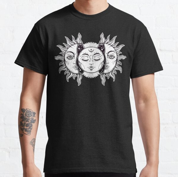 Vintage Retro Sun and Moon Solar Eclipse Classic T-Shirt