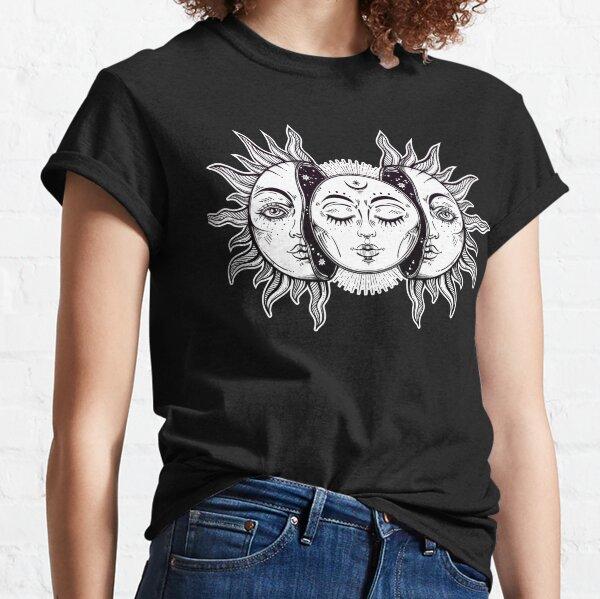 Vintage Retro Sun and Moon Solar Eclipse Classic T-Shirt