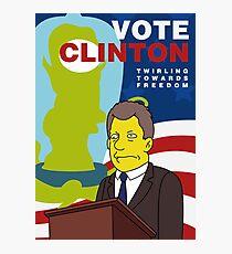 Vote Clinton Photographic Print