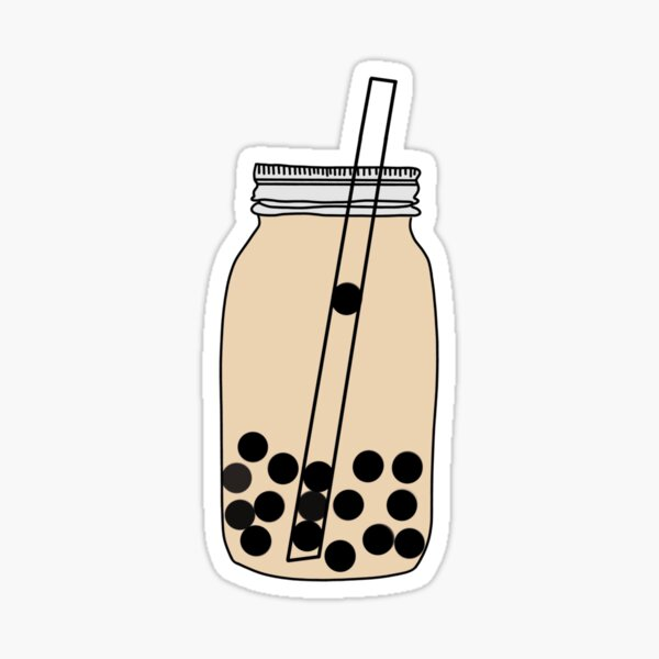 boba milk tea Sticker