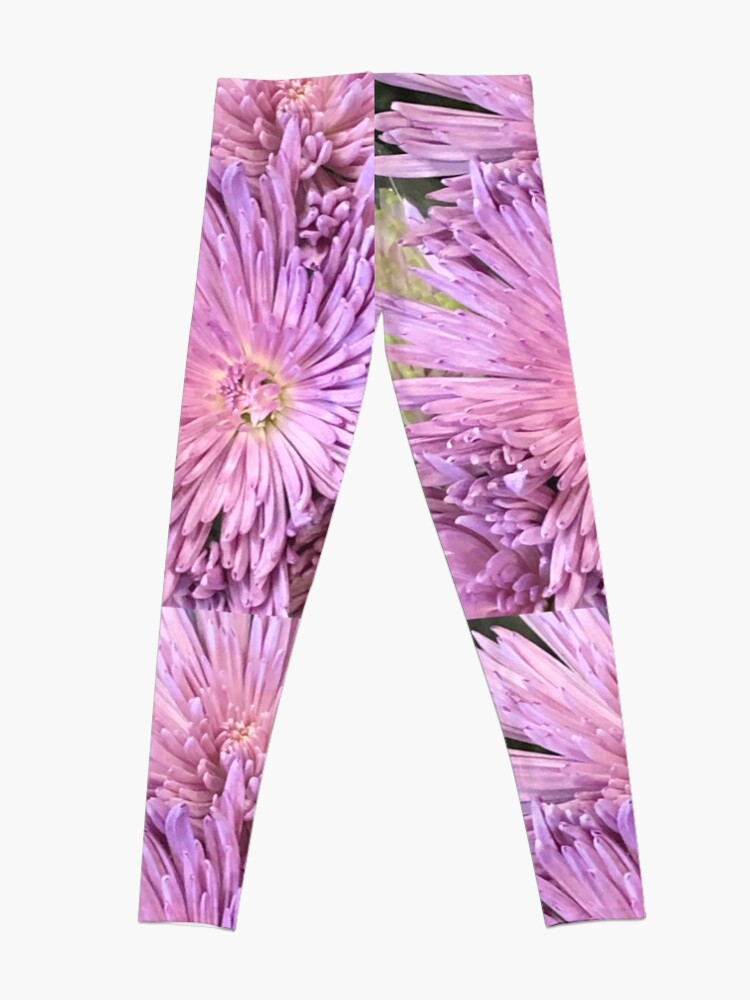 Alternate view of Purple flowers, Purple flowers  Leggings
