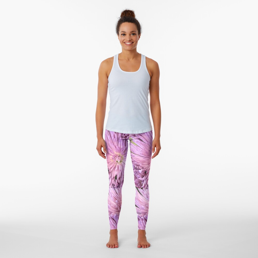 Purple flowers, Purple flowers  Leggings