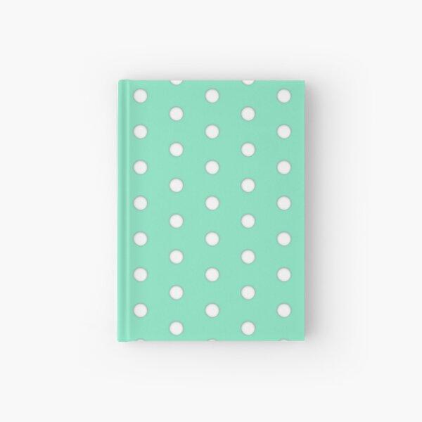 Peppermint White Polka Pattern Hardcover Journal