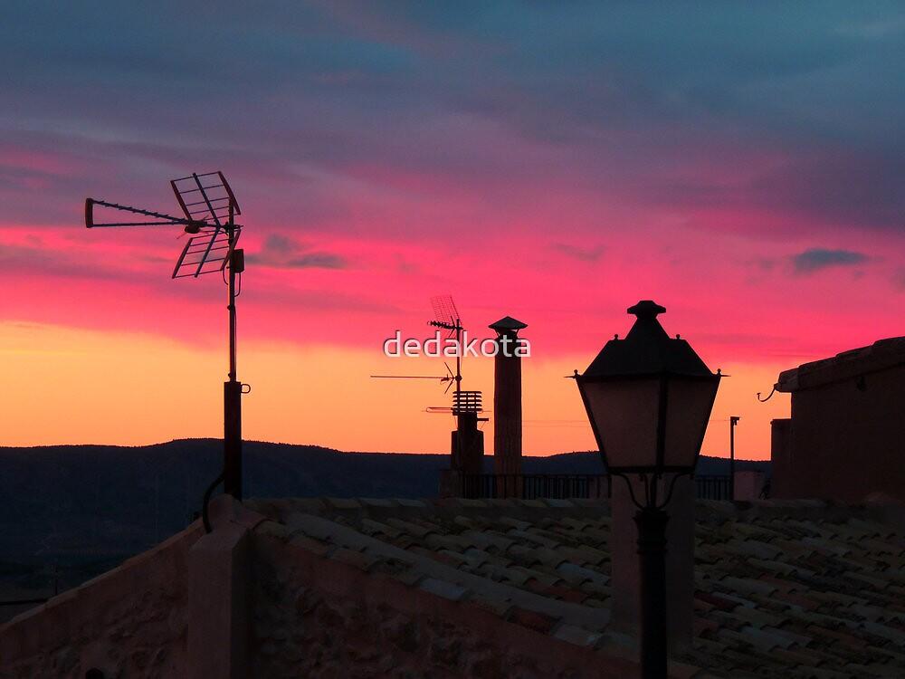 above the roof with sunrise by dedakota