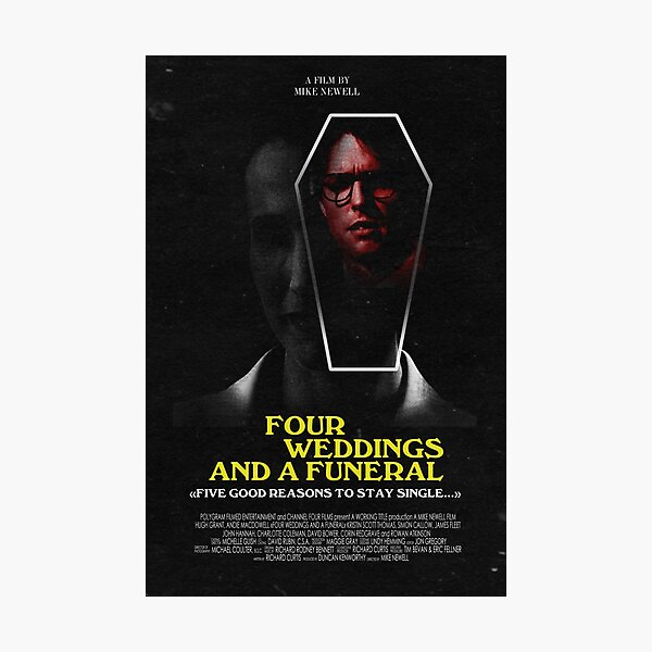 Four Weddings and a Funeral 1994 Classic Horror  Photographic Print