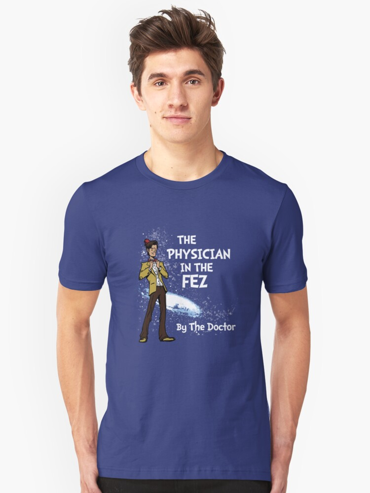 the Physician in the Fez Unisex T-Shirt Front