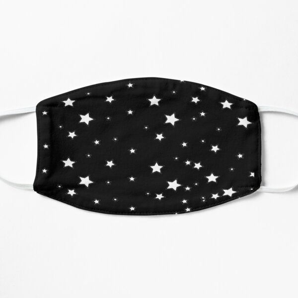 Black and White Star Face Mask Flat Mask
