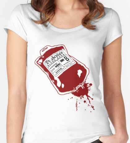 Dr. Acula's Blood Bank Women's Fitted Scoop T-Shirt