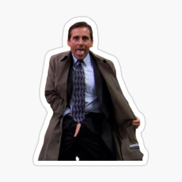 Michael Scott Flashing The Office Sticker