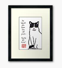 Independent Cat Framed Print