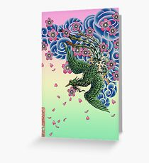 Tattoo Fenghuang Greeting Card