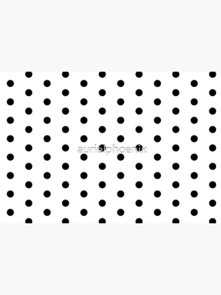 Black Polka Dot Rockabilly Pattern by aurielphoenix