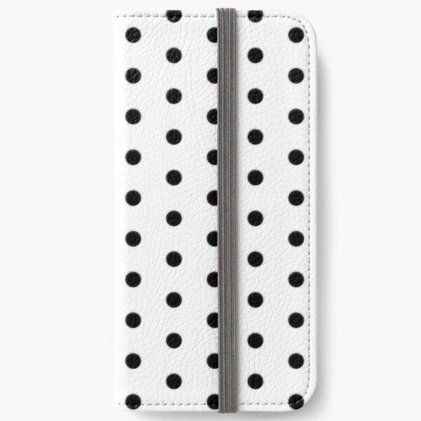 Black Polka Dot Rockabilly Pattern iPhone Wallet