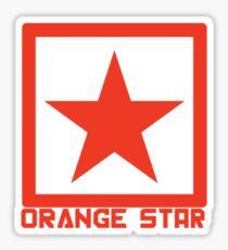 Orange Star Sticker