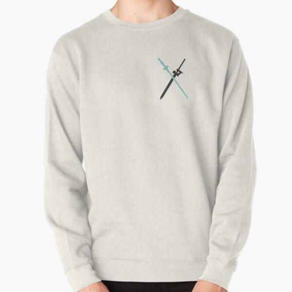 Dual Wielding Kirito (Dual Swords) - Sword Art Online (Asuna and Kirito's Swords) Pullover Sweatshirt